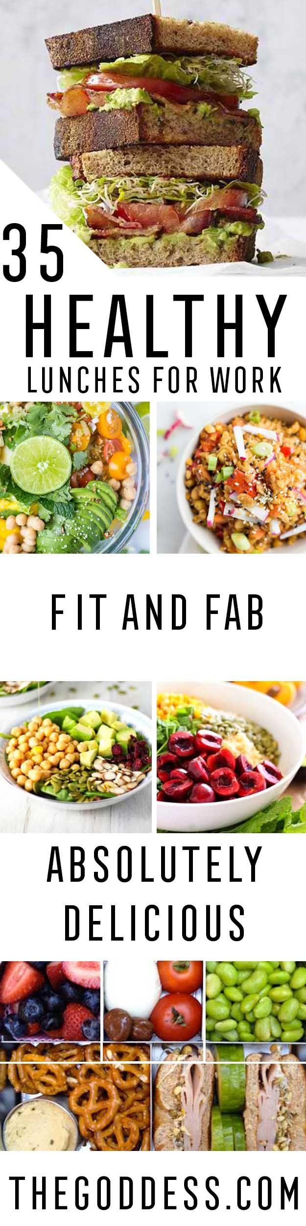 35 healthy lunches for work healthy eating pinterest essen gesundes essen und kaltes essen. Black Bedroom Furniture Sets. Home Design Ideas