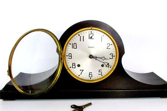 Antique Ansonia Mantle Clock / Tambour  by CreekLifeTreasures