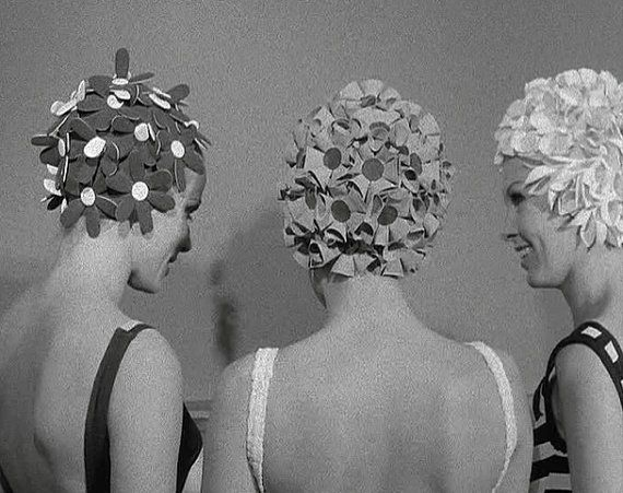 Floral Vintage Bathing Caps