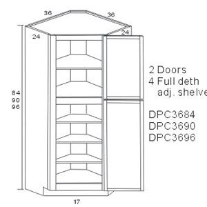 Lexington Diagonal Corner Pantry Cabinets Storage solution for ...