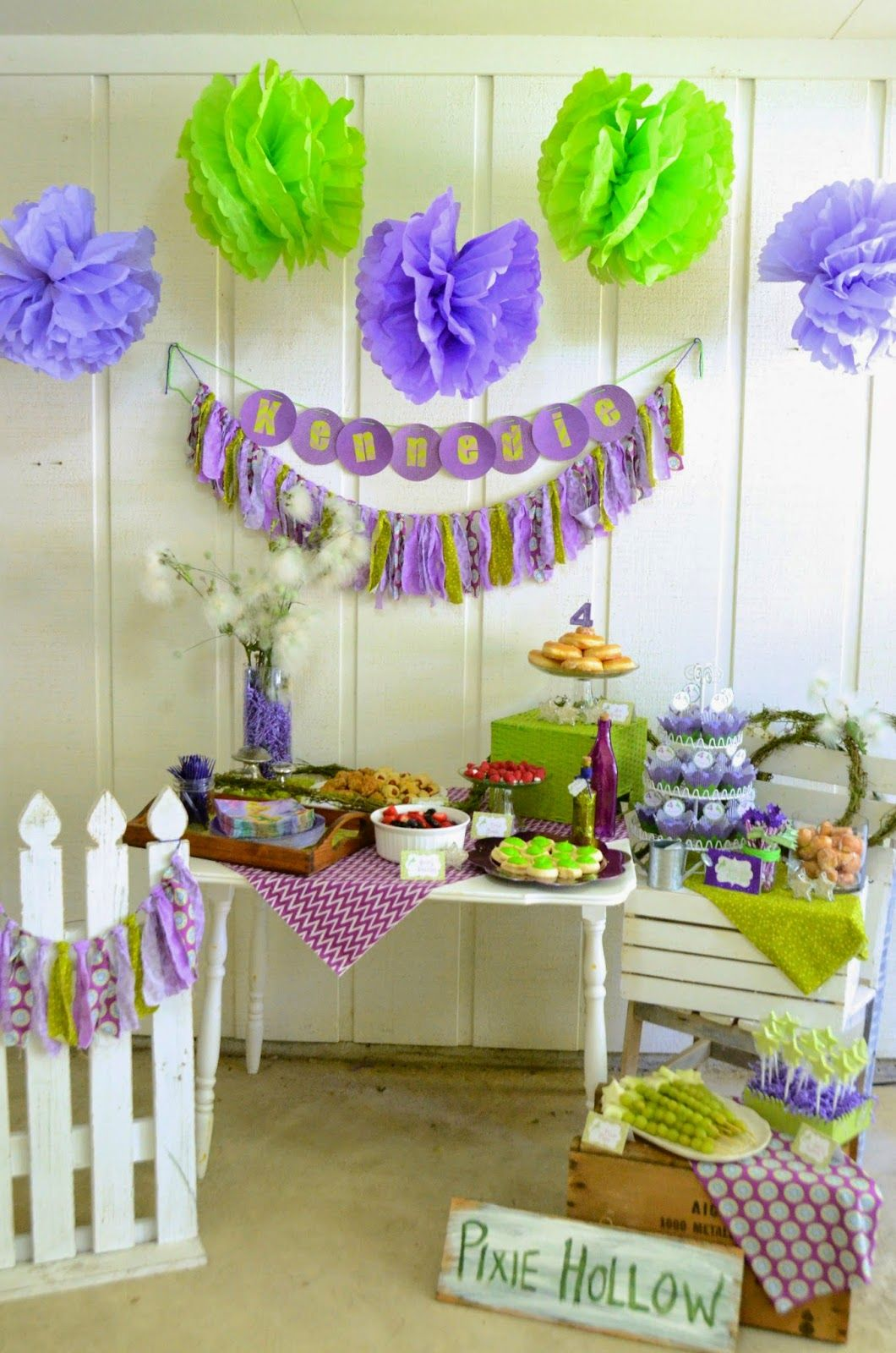 Tinker Bell party, 4 year old girl party, fairy party