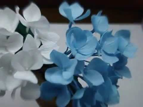 How to make paper flower forget me not youtube well he asked me how to make paper flowers hydrangea flower mightylinksfo Gallery