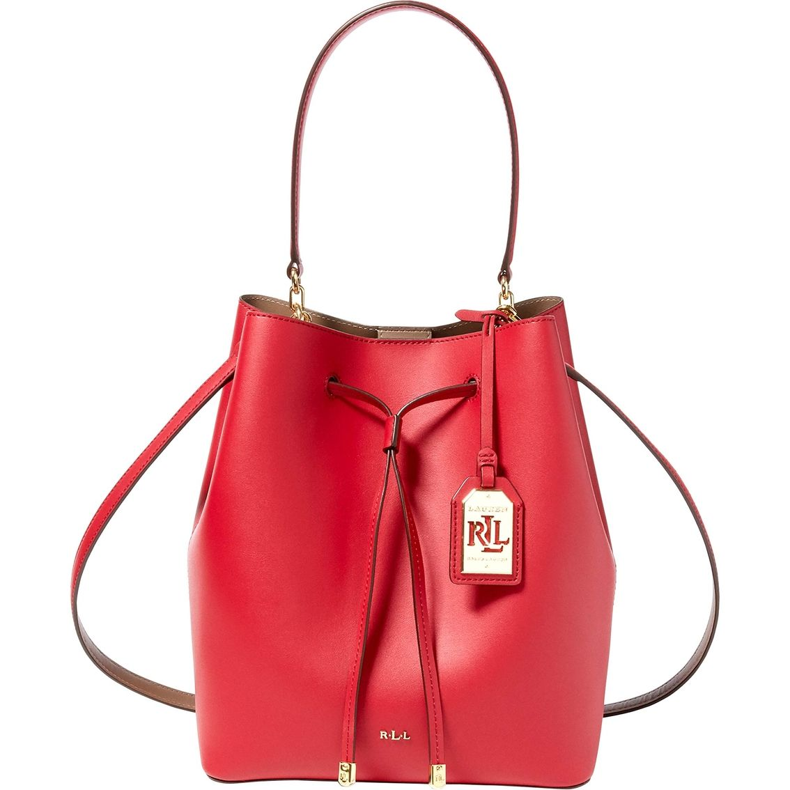 Lauren Ralph Lauren Dryden Debby Drawstring Bag | Contrasting interior and removable straps take this lightweight drawstring bag from basic to chic.