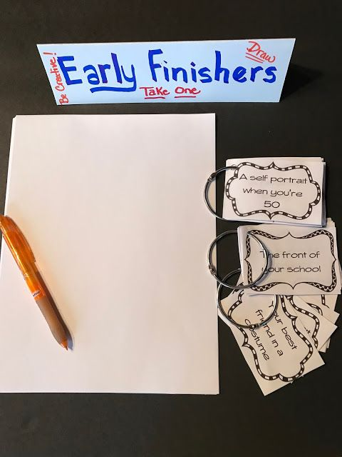 One Bright Crayon: Early Finishers in Art - Drawing Prompts