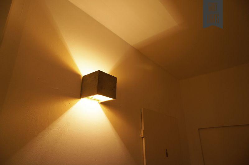 Perfekt Beton Wandlampe [B3] Indirekte Beleuchtung Gold