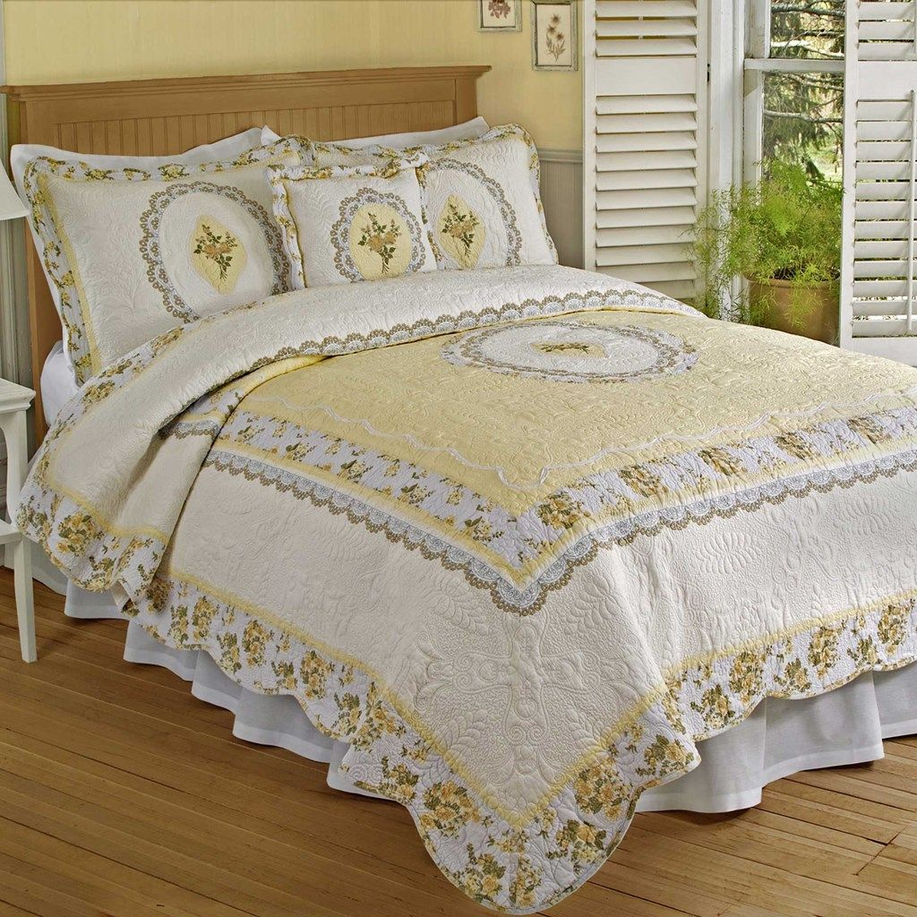 Classic Cameo Quilt King Queen Quilt Furniture Home