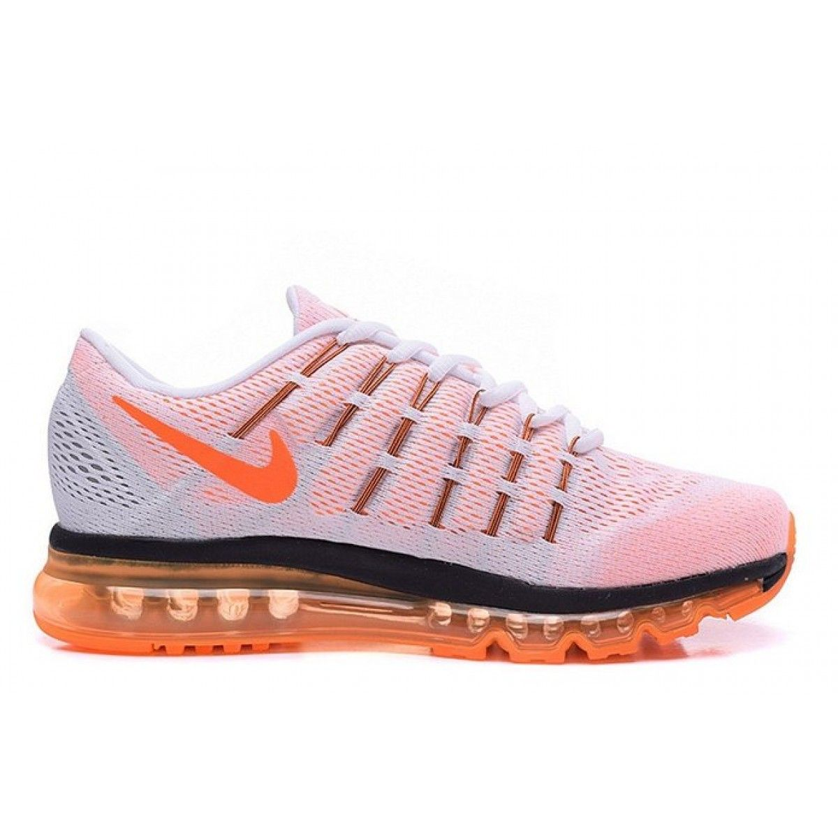 the latest 38387 8e665 ... Nike Air Max 2016 White Orange Running Sports Shoes ...