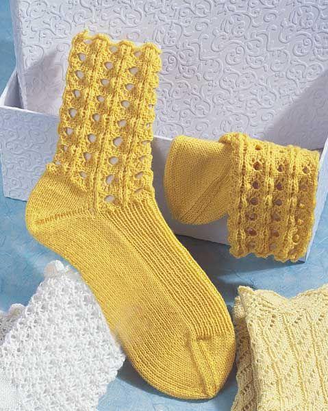 Носки с ажурным узором - схема вязания спицами. Вяжем ...
