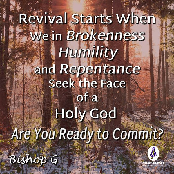 We need revival. Are we willing to pay the cost by humbling ourselves before the majesty of God? #BishopGQuotes More at #RisenScepter owl.li/4mZ4NS