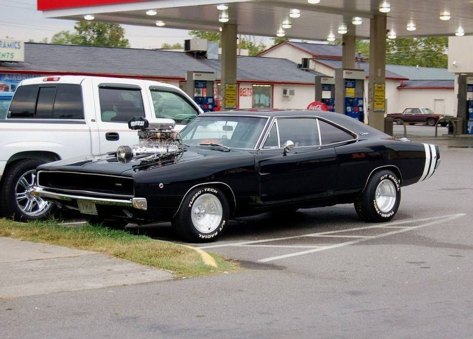 Black Dodge Charger with white stripes makes for an awesome muscle ...
