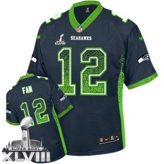 Cheap 12th Fan Seattle #Seahawks Men's Elite Navy Blue #SuperBowl XLVIII  for cheap