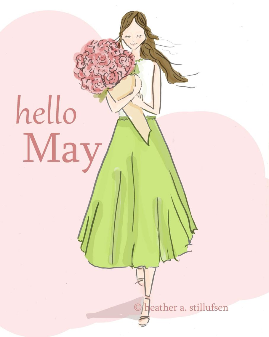 May hello may monthsseasons pinterest rose girl power and
