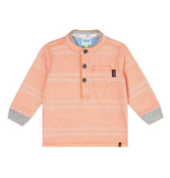 5d3e73fb1 Ted Baker Baby Boys T Shirt Orange Long Sleeves Designer 12-18 Months