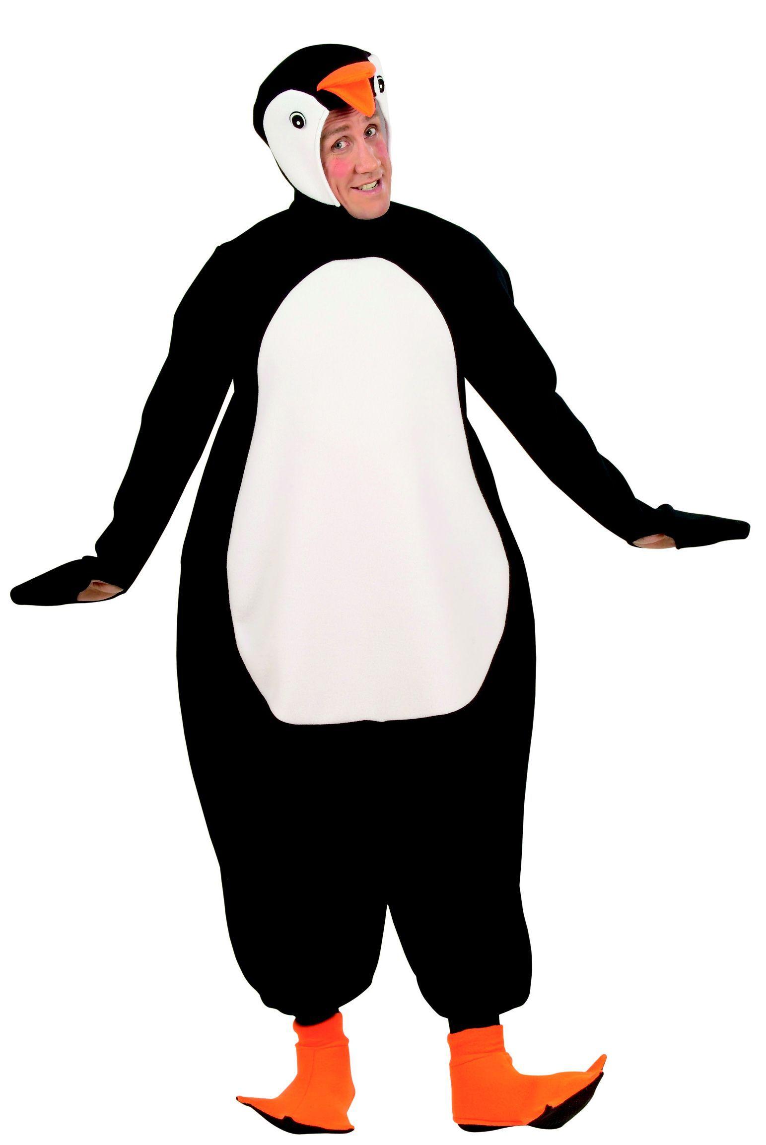 Pinguin Tierkostum Schwarz Weiss Orange Kinderkleidung Orange