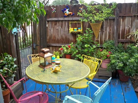 Mexican Inspired Backyard Patio Before After Colorful Patio