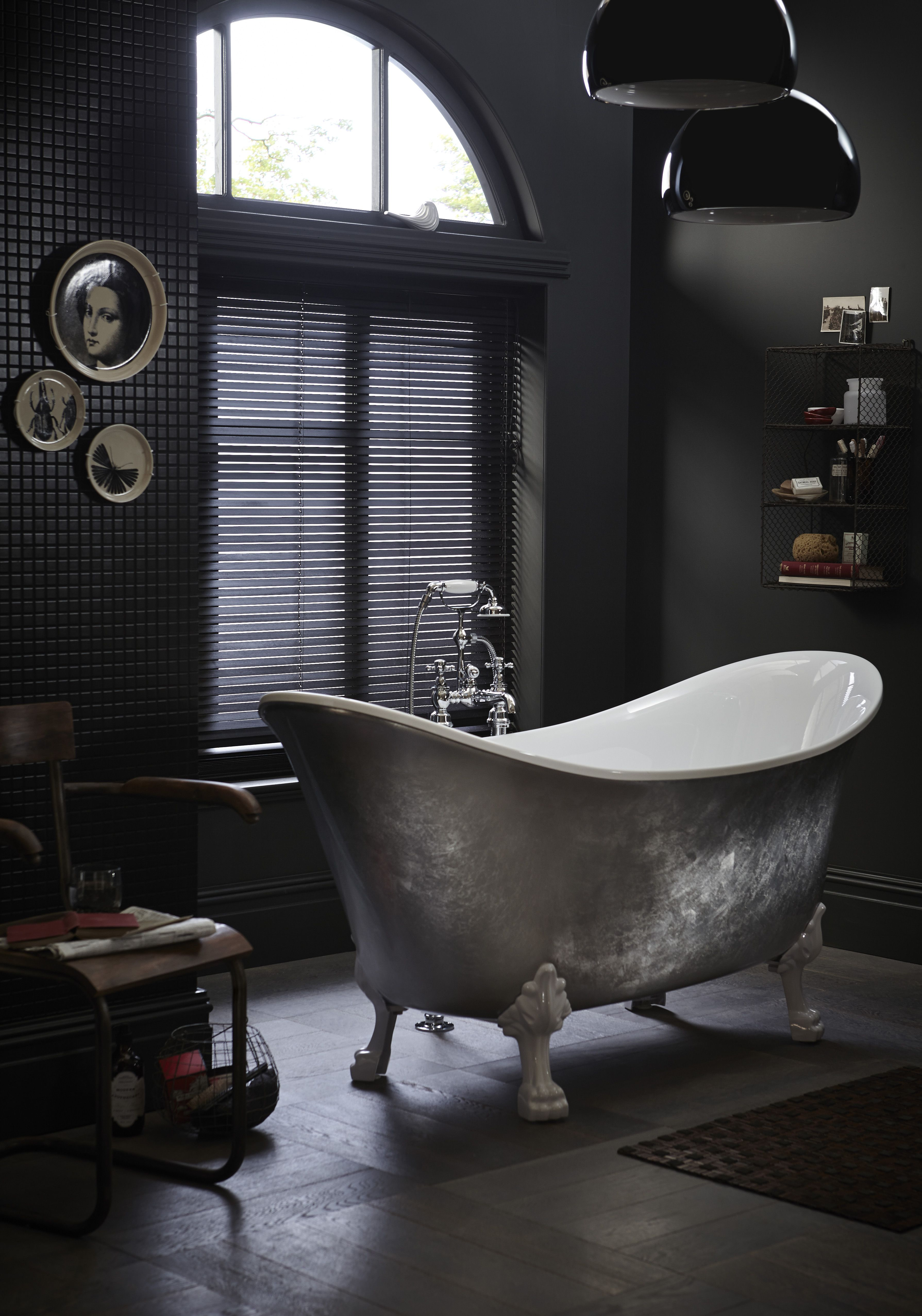heritage bathrooms, freestanding lyddington stainless steel effect