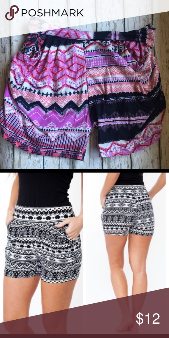 COMFY HARLEM SHORTS WITH POCKETS COMFY HARLEM SHORTS WITH POCKETSthese shorts are so comfy you will want to live in them  they come in S/M or M/L and certain styles are L/XL so ask about sizing and availability in prints, 92% poly, 8% spandex, bundle and save  Shorts