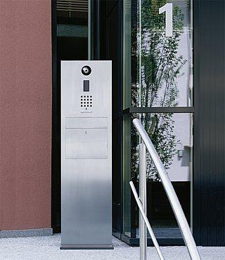 sss siedle steel pedestal with letterbox siedle. Black Bedroom Furniture Sets. Home Design Ideas
