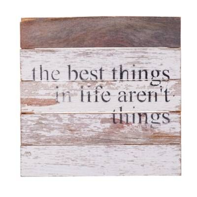 Second Nature by Hand The Best Things in Life Wood Sign