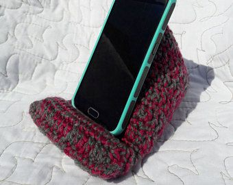 crochet pillow stand for iphone or ipad