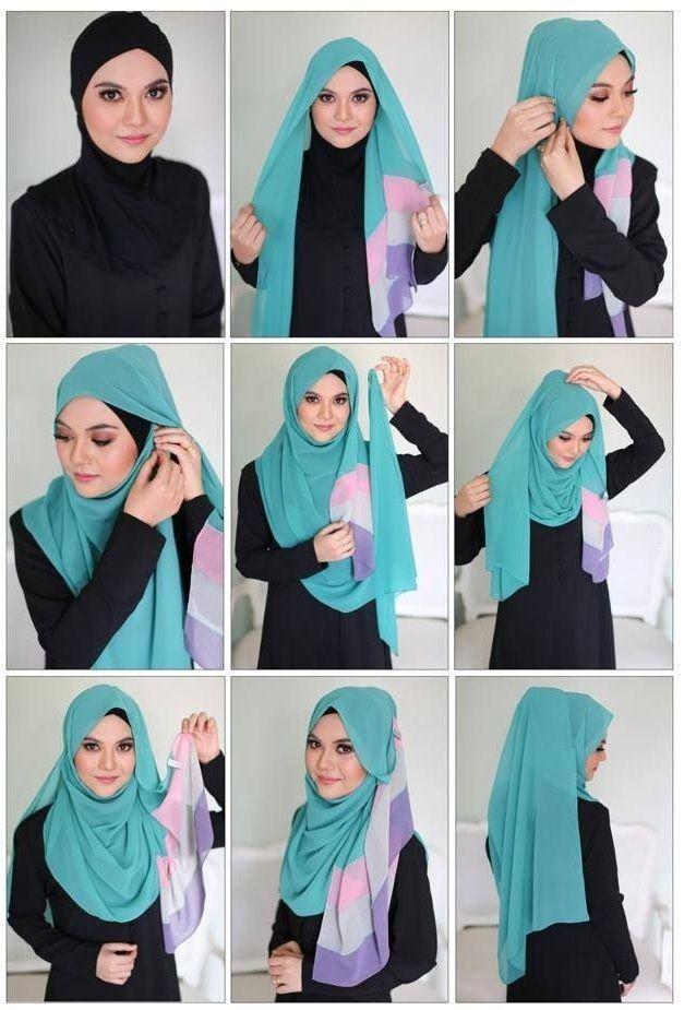 Hijab Tutorial Hijab Kopftuch Binden Kopftuch Islam Und Kopftücher