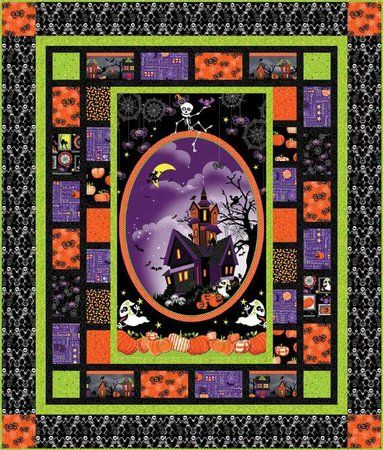 Red Rooster Quilts: Shop | Category: Kits | Product: Frightful and ... : halloween quilt kits - Adamdwight.com