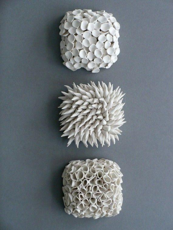 . Set of 3 Wall Tiles   Micro Tile  Ceramic Wall Tile  Porcelain Wall