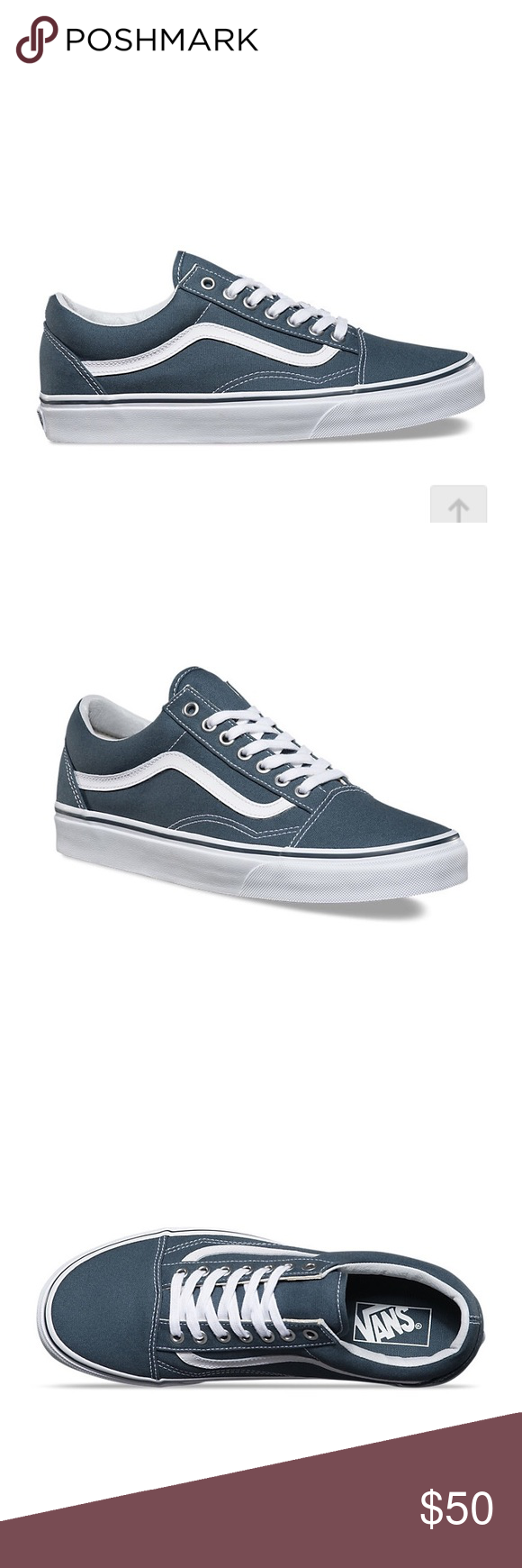 Continuamente Melbourne Deber  Canvas Old Skool Vans - Dark Slate/True White | Vans, Vans old skool  sneaker, Old skool