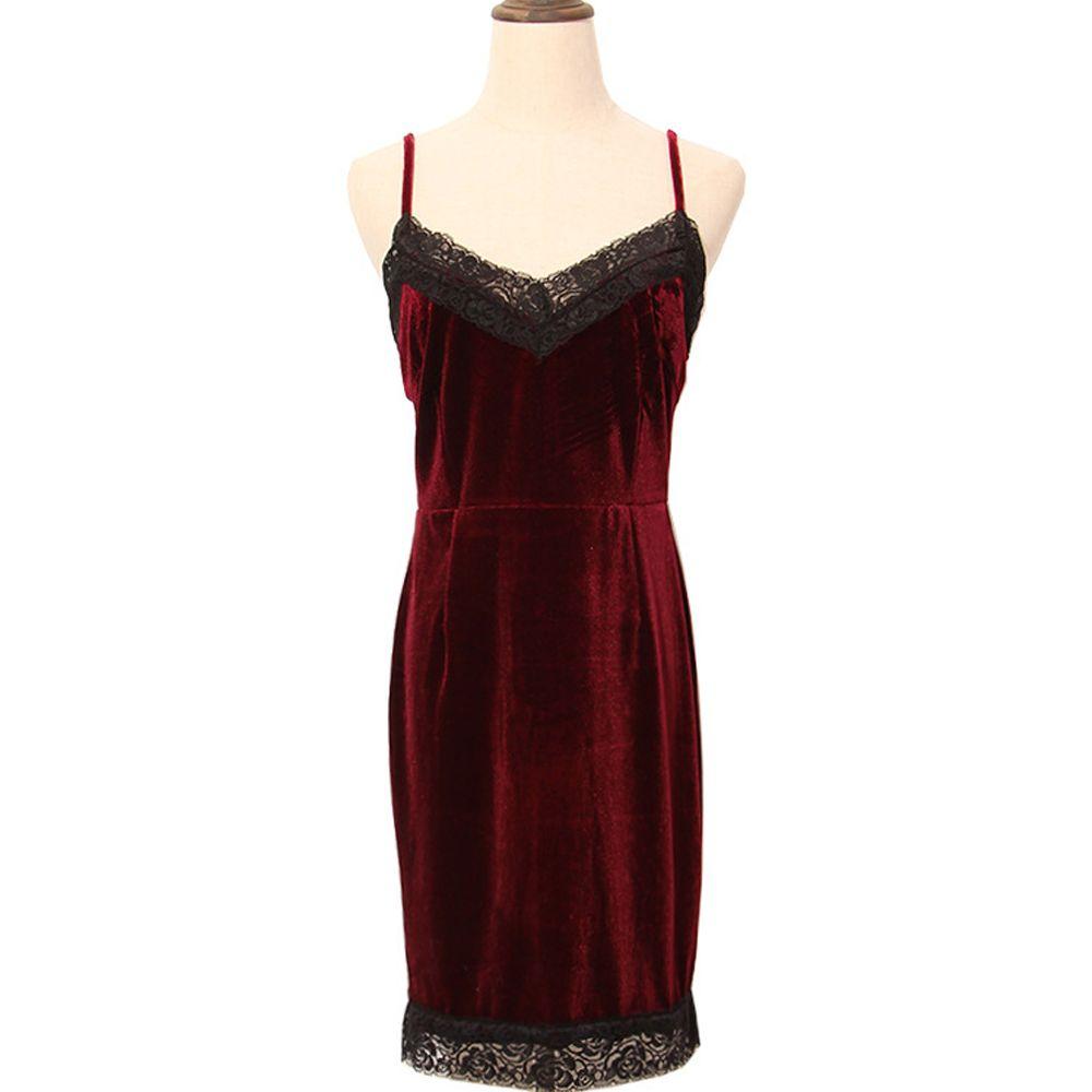 Sexy spaghetti strap dress european celebrity designer womenus