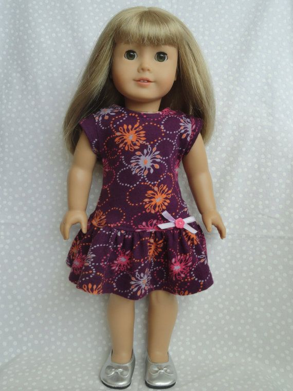 American Girl/18 Inch Doll Drop Waist Ruffle by MandySewSweet, $12.00. Go to etsy and get this adorable greatly sewed dress!