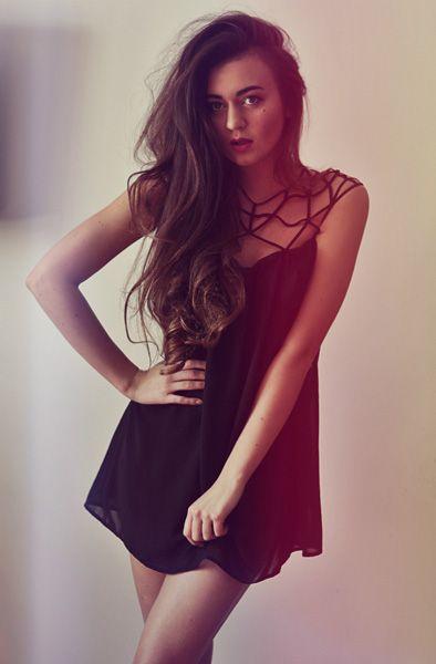 Black Chiffon Dress #LBD
