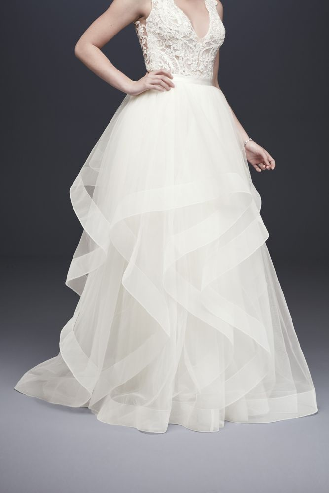 Romantic Beaded Bodice Wedding Dress With Effortless Pleated Tulle Skirt Featured Dress M Tulle Skirt Wedding Dress A Line Wedding Dress Bodice Wedding Dress