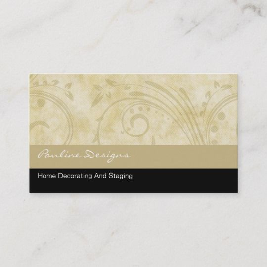 Home Decorator Business Cards