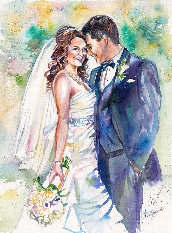 быть жених и невеста картинки акварелью нее сложились хорошие