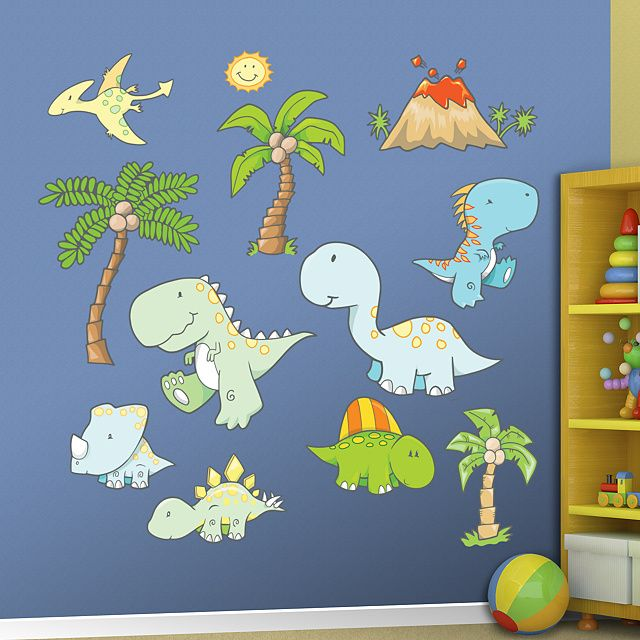 Baby Dinosaurs Real Big Fathead Peel Stick Wall Graphic