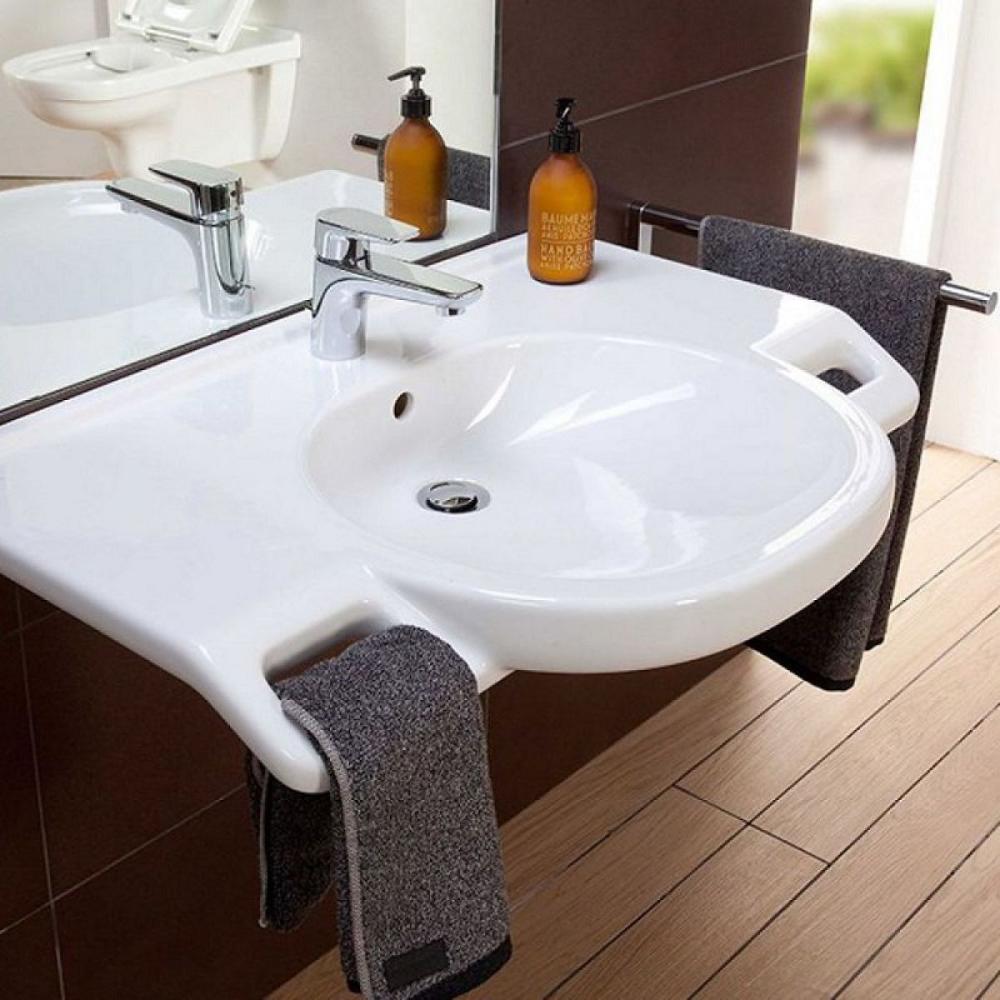 Villeroy Boch O Novo Vita Easy Access Basin With Handles In 2020 Wash Basin Accessible Bathroom Basin
