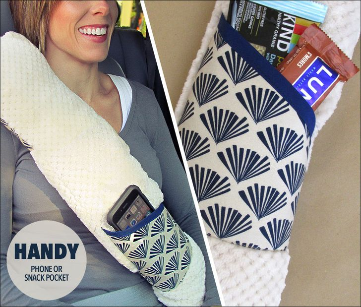 DIY Seat Belt Pillow, made these for