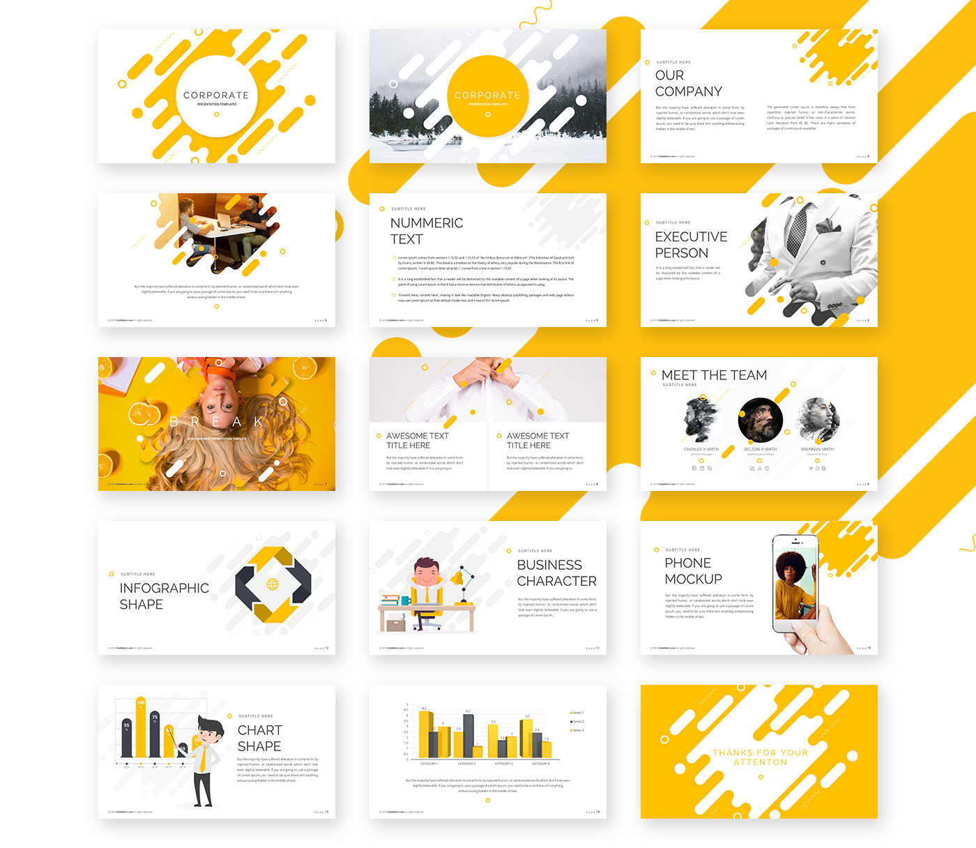 Best Free Powerpoint Templates: Corporate Powerpoint Template – Pixelify