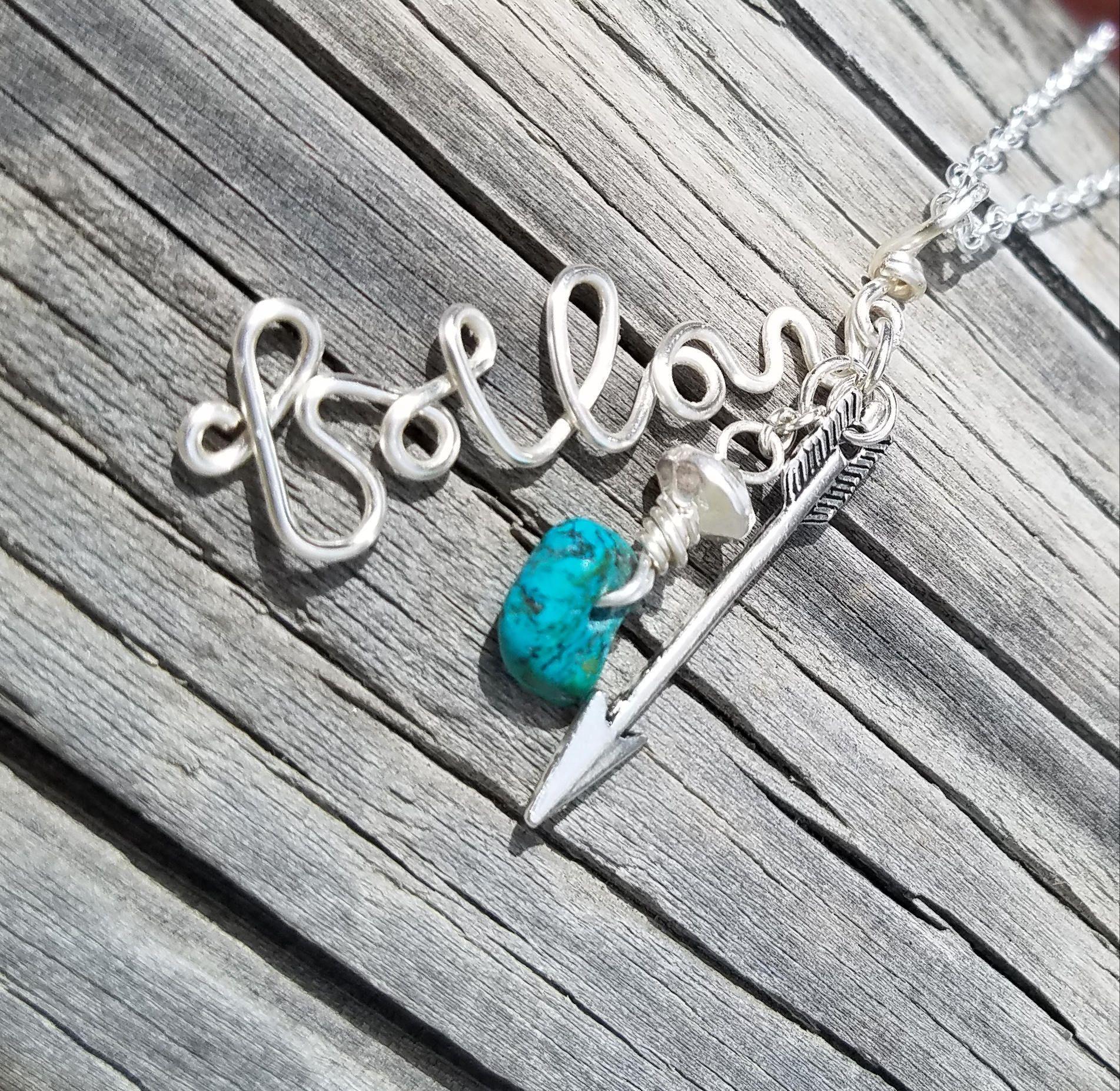 Follow your arrow, wire necklace, wire wrapped Jewelry, wire wrap ...