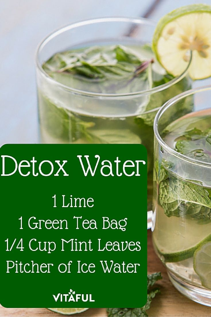 Green tea detox water recipe for weight loss detox for Cocktail detox