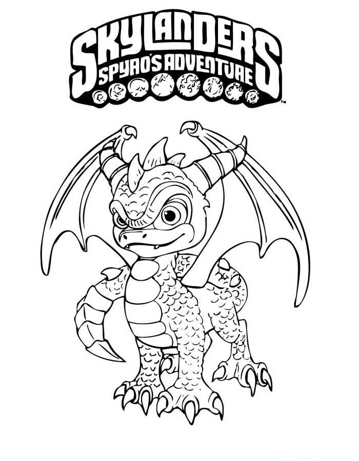 Skylanders Spyros Adventure Coloring Pages 3 | corling books ...