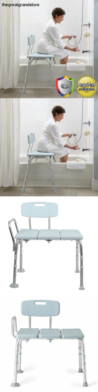 Transfer Boards and Benches: Adjustable Medline Back Padded Transfer ...