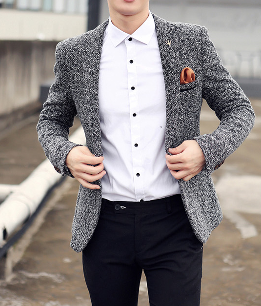 Men's Cotton & Wool Casual Blazer is part of Clothes Casual Models - Item TypeBlazers Sleeve LengthFull Closure TypeSingle Button Clothing LengthRegular MaterialPolyester SKU16572