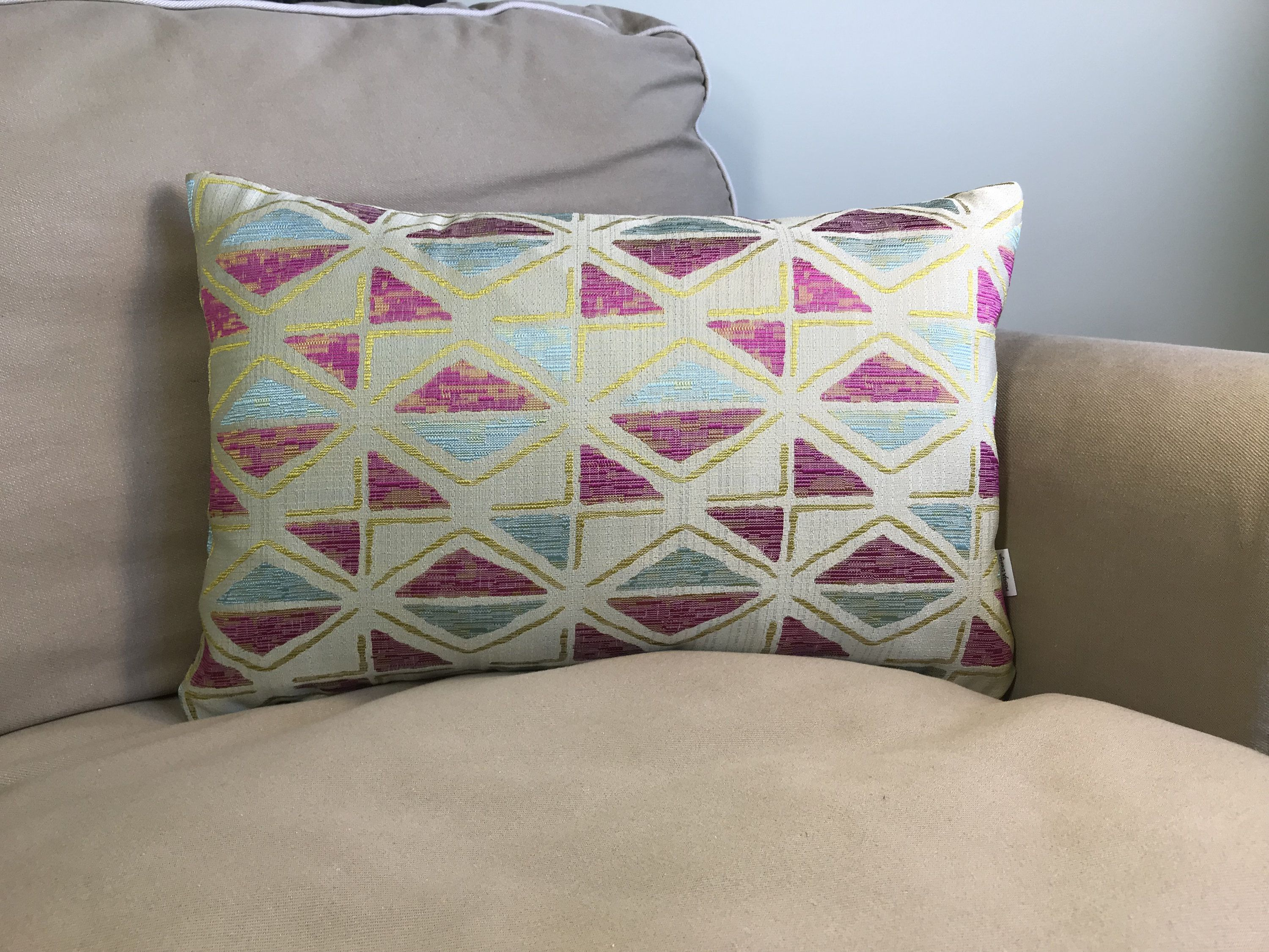 Pillow Pink Golden Yellow Two Sided Pillow Cover Handmade Pillow Case Rectangle Pillow Cover Colourful Cushion Decorative Pillow Handmade Pillowcases Handmade Pillows Colourful Cushions