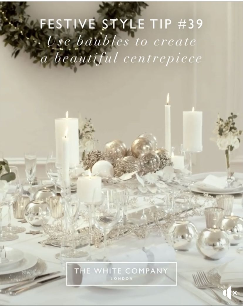 Pin By Michelle Stewart On Christmas Beautiful Centerpieces Centerpieces The White Company