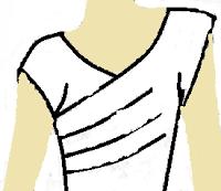 Blusa cruzada con drapeado | El costurero de Stella