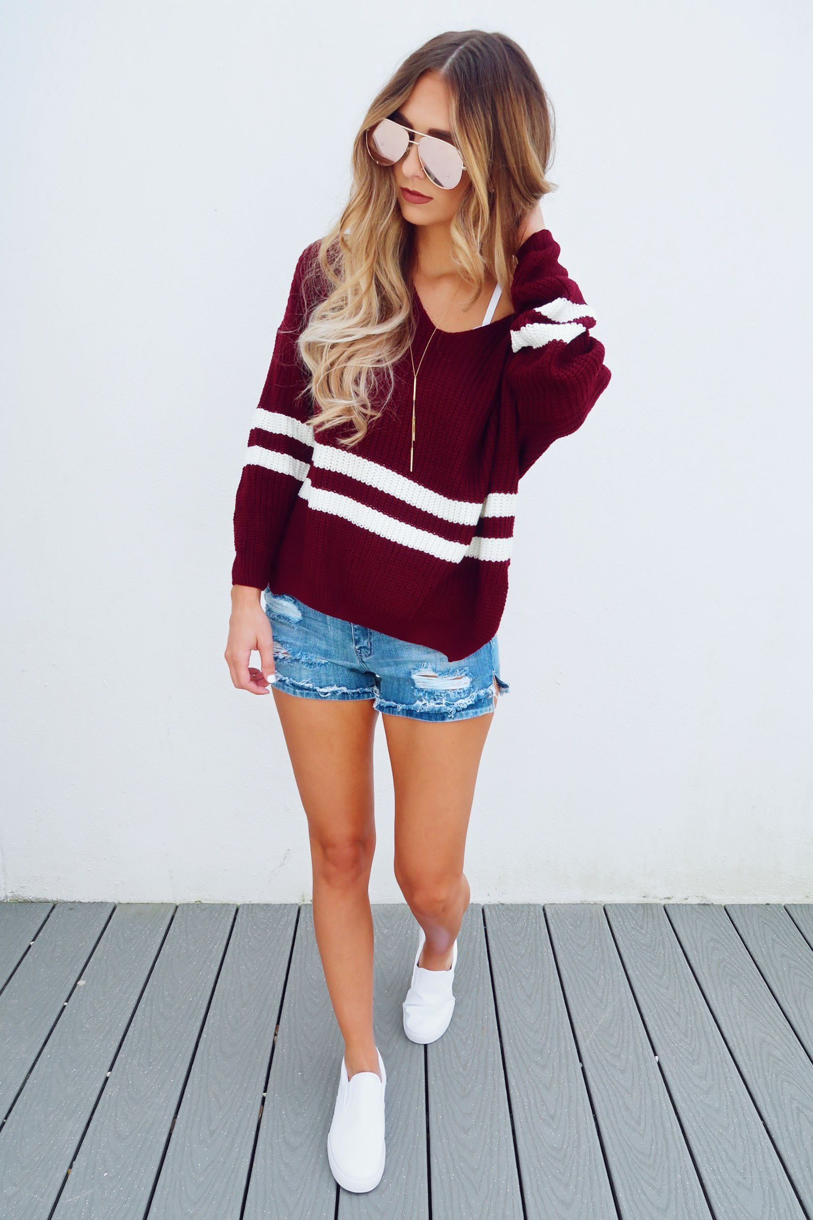 809eed78e4 Share to save 10% on your order instantly! Keeping It Cozy Sweater   Maroon White