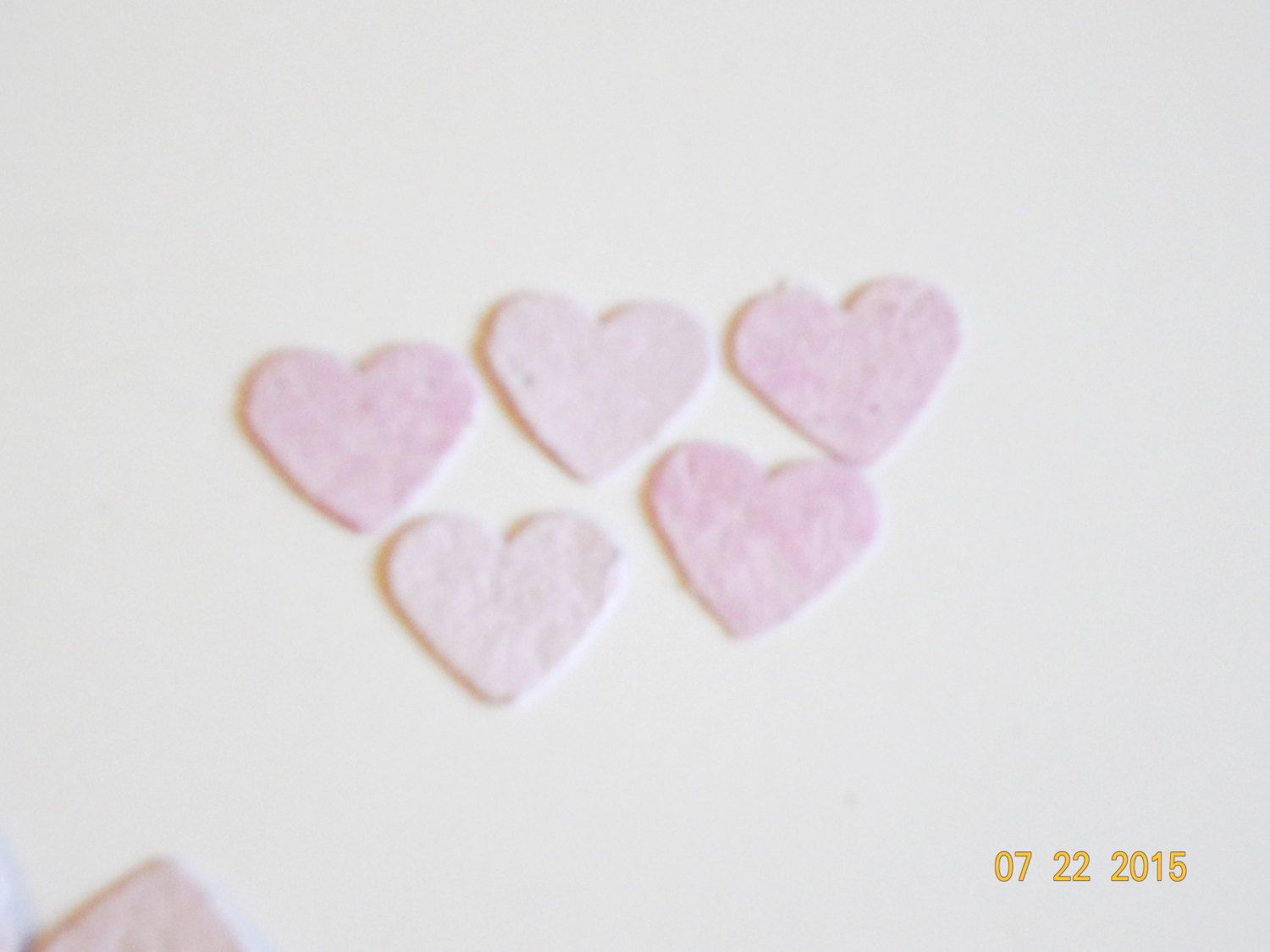 New flower seed paper hearts pink recycles baby shower girls new flower seed paper hearts pink recycles baby shower girls confetti scrapbook cards decoration 150 die mightylinksfo Choice Image