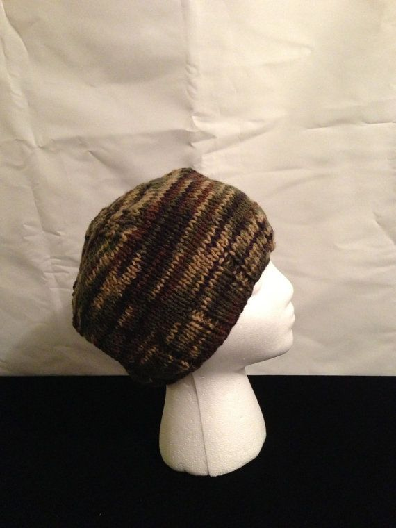Camo Knit hat for Him or Her by 1finedesign on Etsy, $15.00 , It is still cold