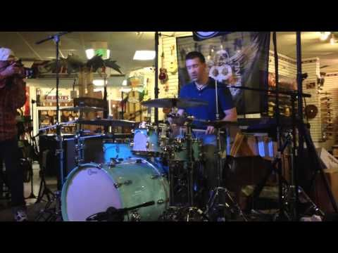 Polyrhythms.  Fun lessons with Mike Johnston Drum Clinic May 3, 2012 Sam Ash Westminster CA - Polyrhythms- Part 3